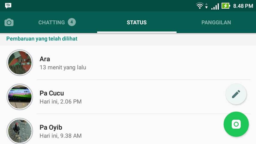 Cara Download Status Foto Atau Video Whatsapp Teman