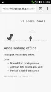 trik google game dinosaurus