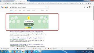 trik pemutar kejutan ulang tahun Google
