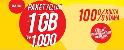 Cara Dapat Kuota 1GB Harga Seribu Paket Yellow Indosat