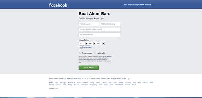 Cara Daftar Facebook Melalui Web Browser