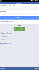 Cara Daftar Facebook Menggunakan Aplikasi