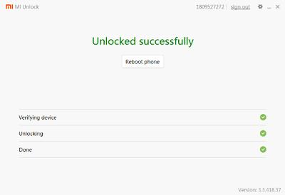 Unlock Bootloader Xiaomi Redmi 5a